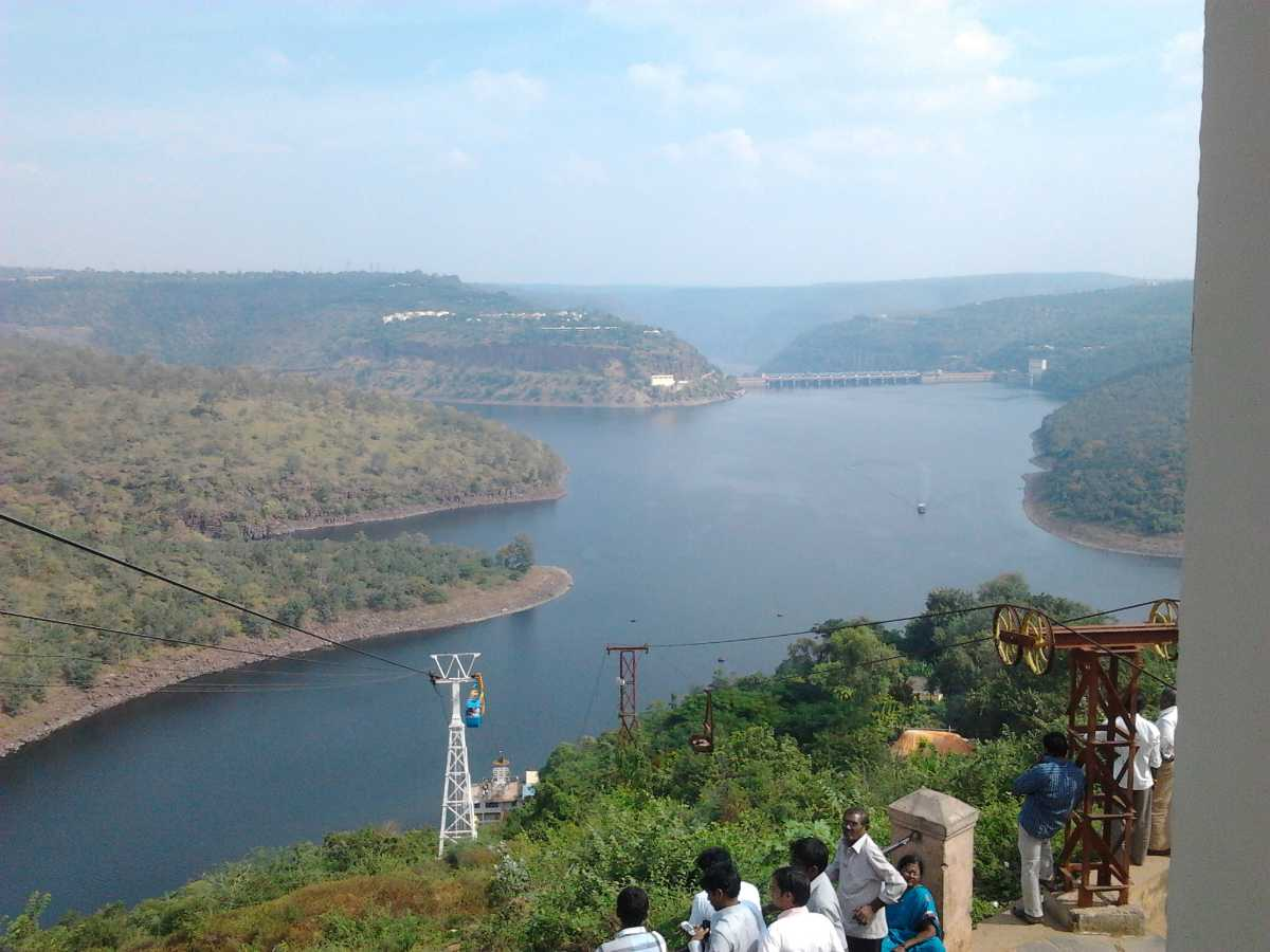River Krishna and Srisailam Dam