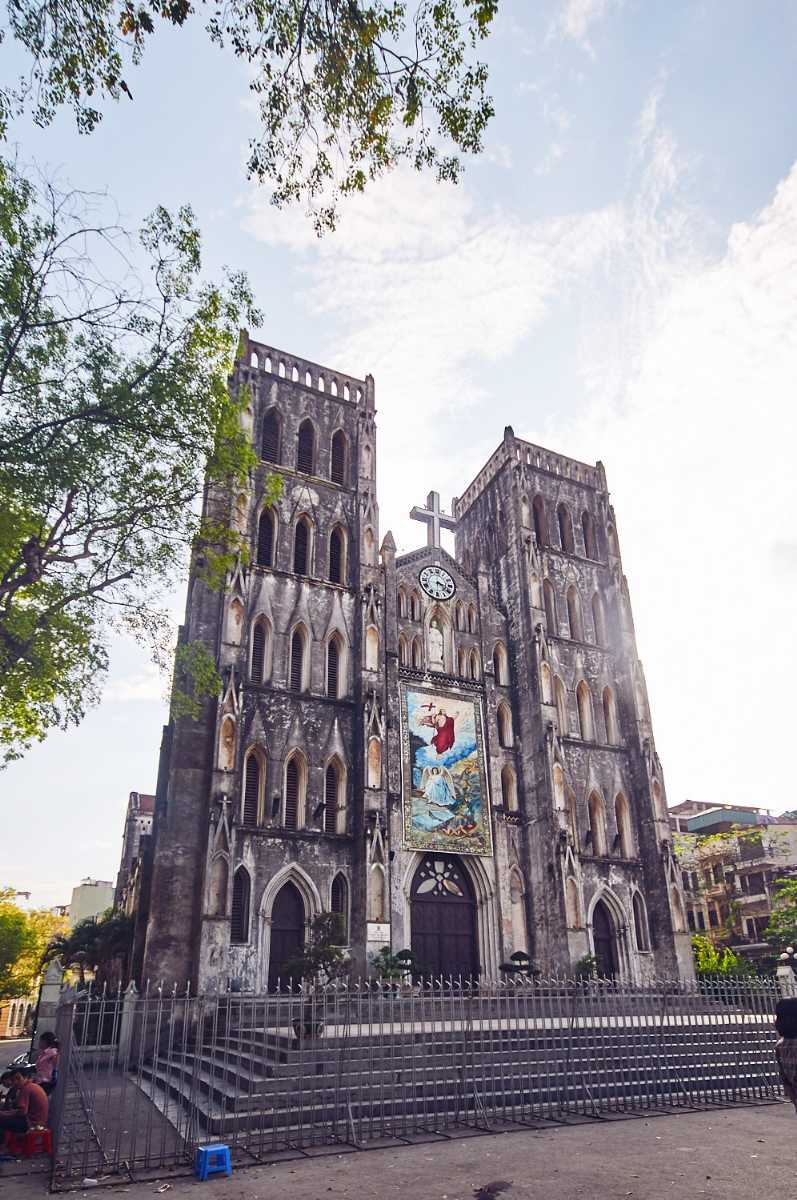 St Joseph's Cathedral in Hanoi is a popular example of French Architecture in Vietnam