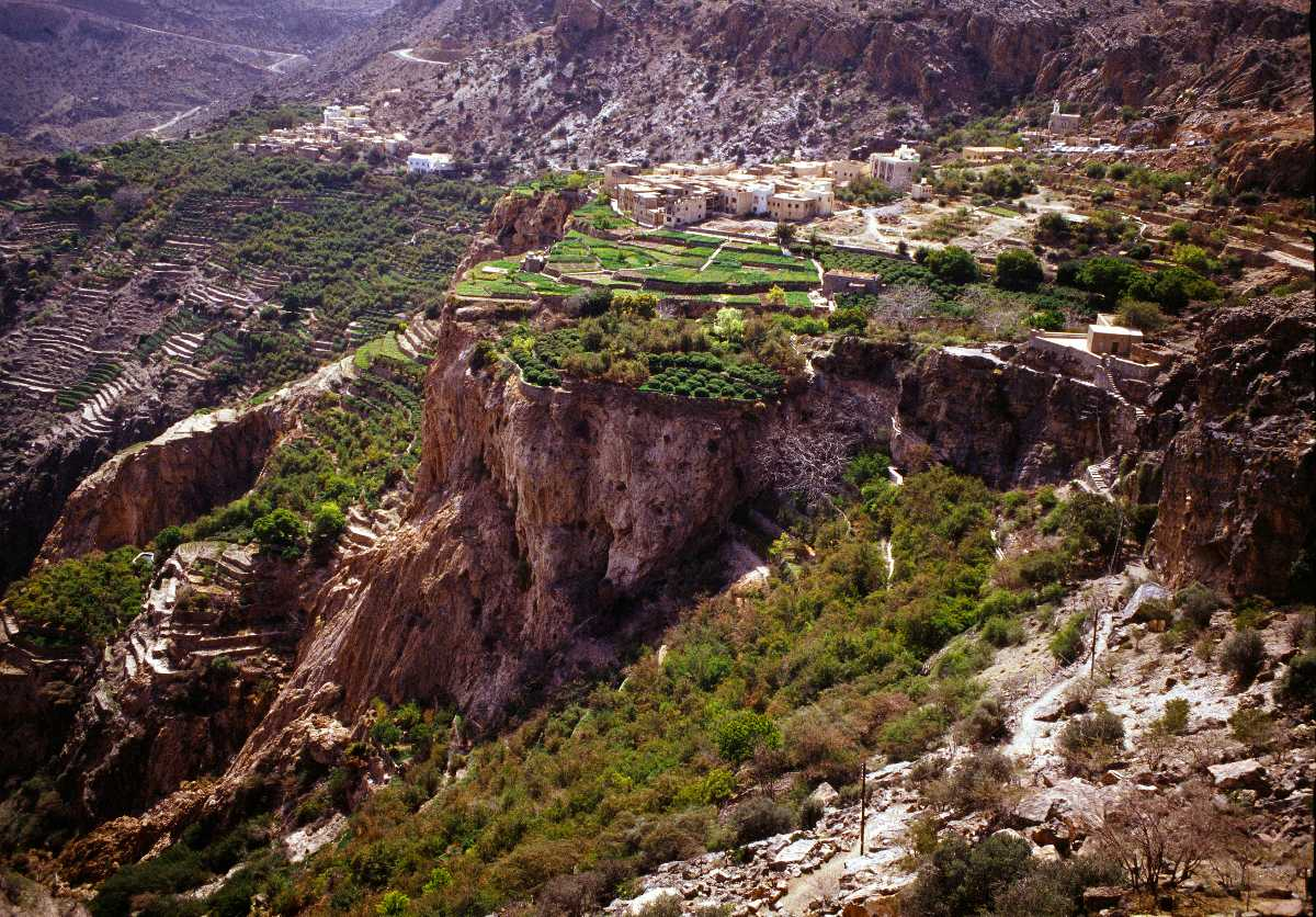 Jebel Akhdar, Landscapes of Oman