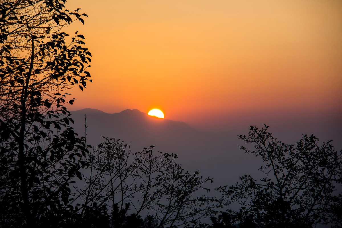 The sunrise from Nagarkot.