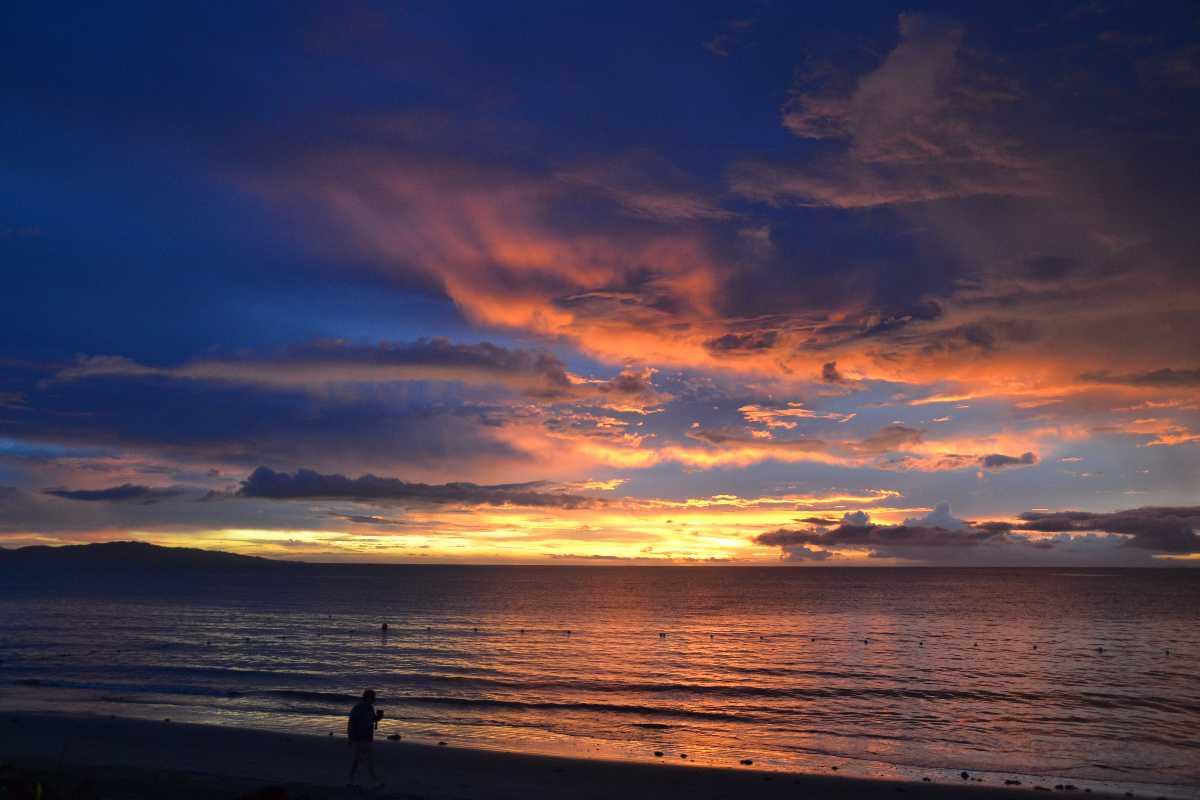 Sunset in Bali Beach
