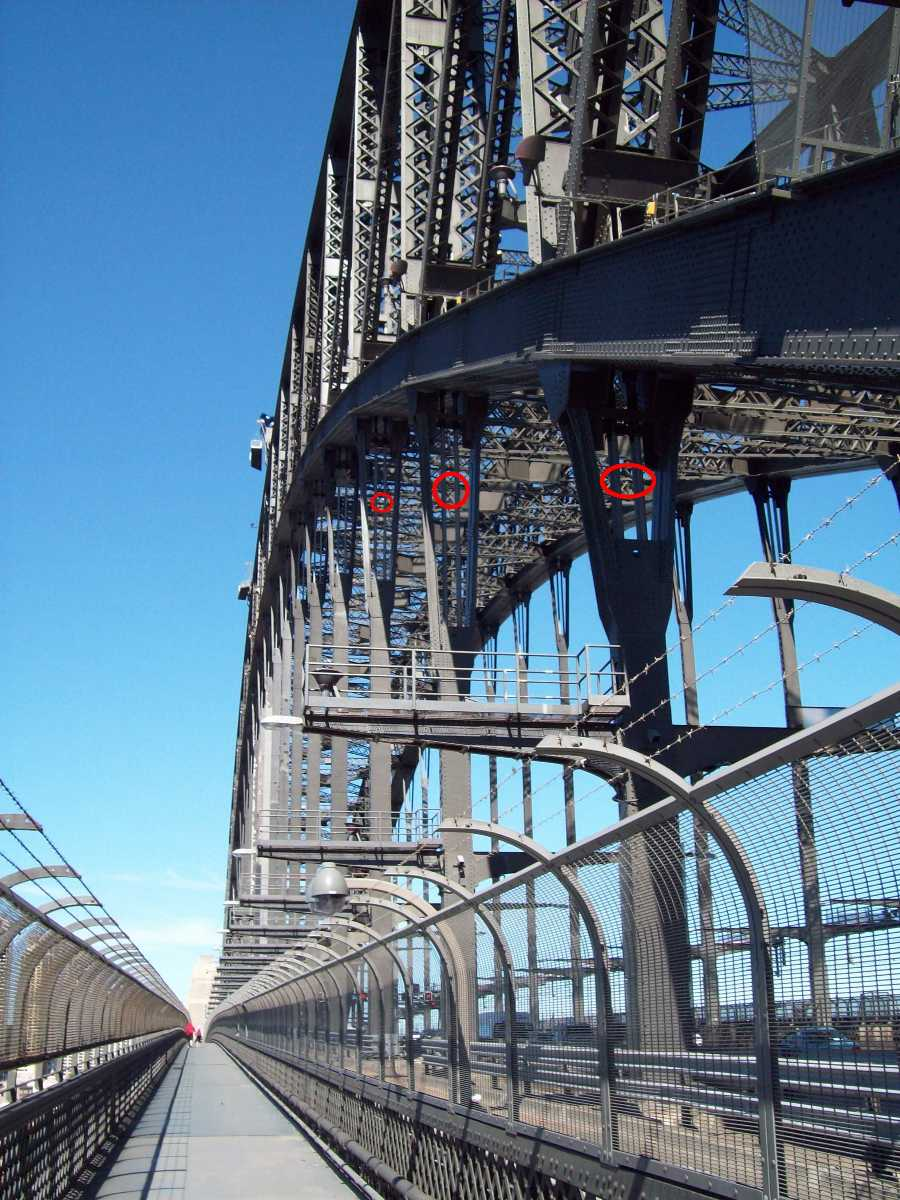 Pedestrian Walkway at Sydney Harbour Bridge