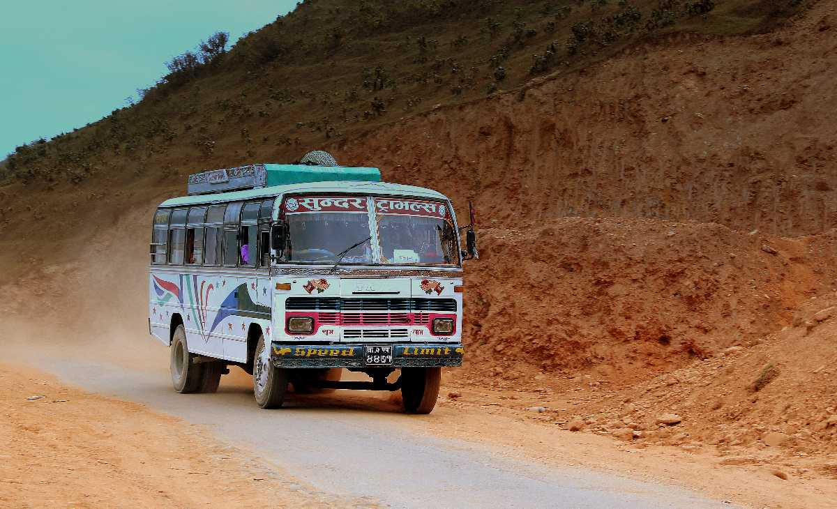 Bus at Lakeside Pokhara