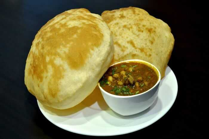 Chole Bhature at Chowk Lucknow street food