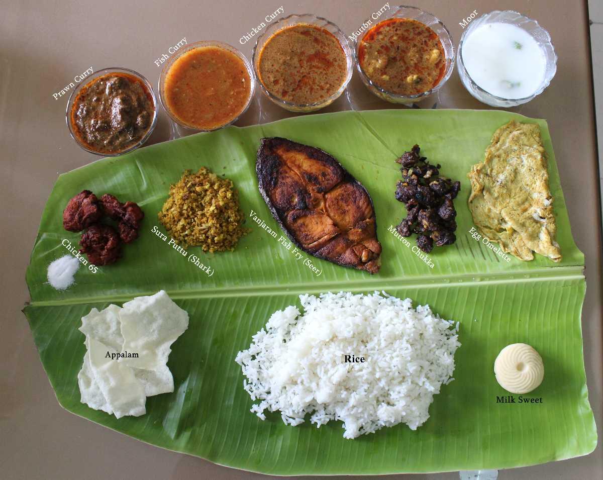 Tamil non-veg thali