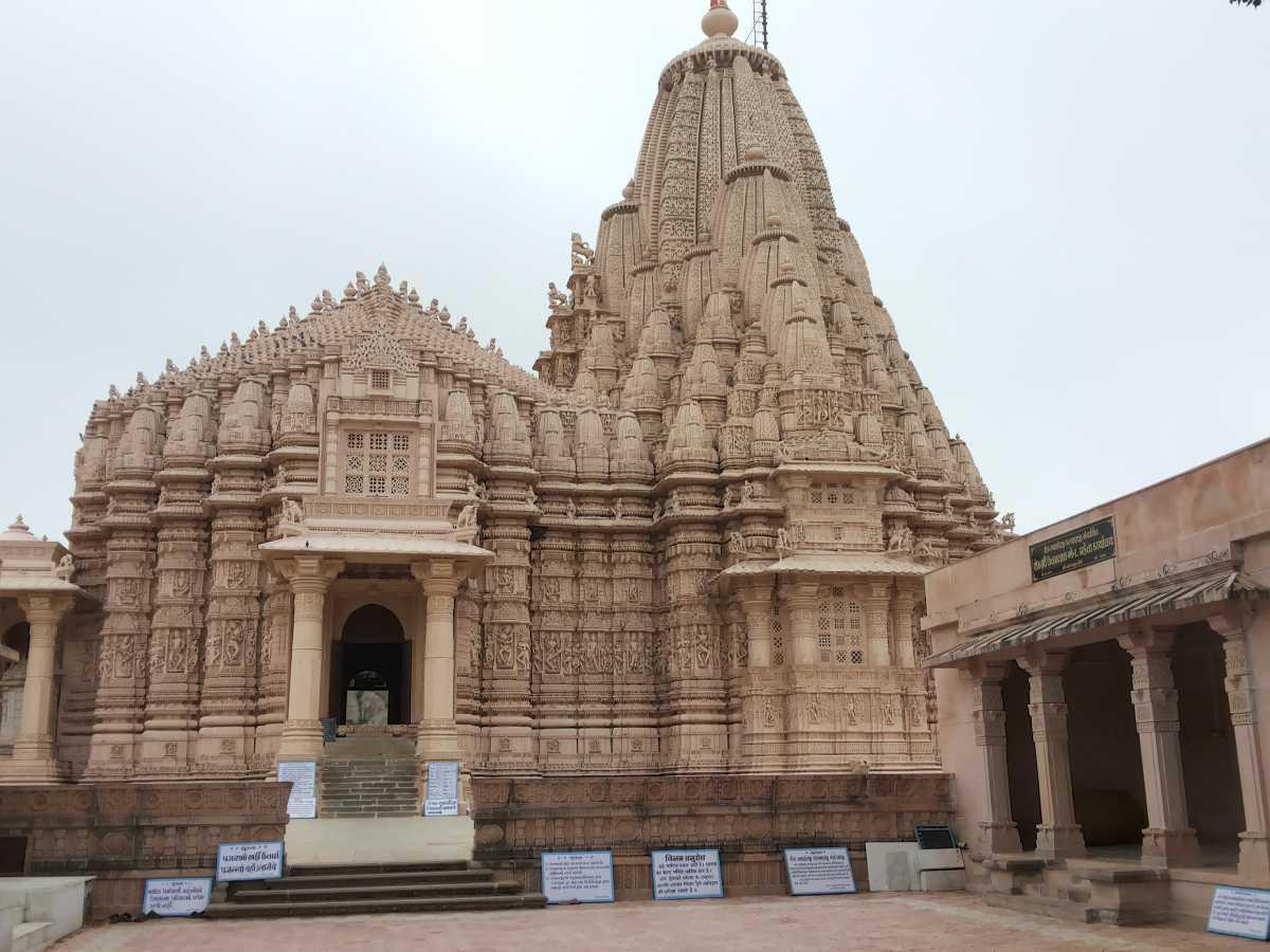 A view of the Taranga Jain temple atop the hill