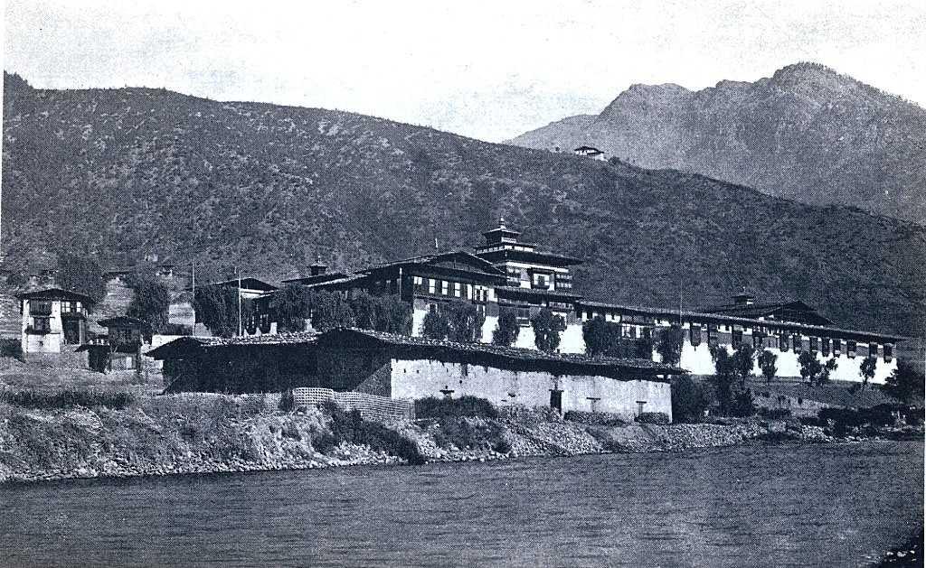 Tashichho Dzong in 1921