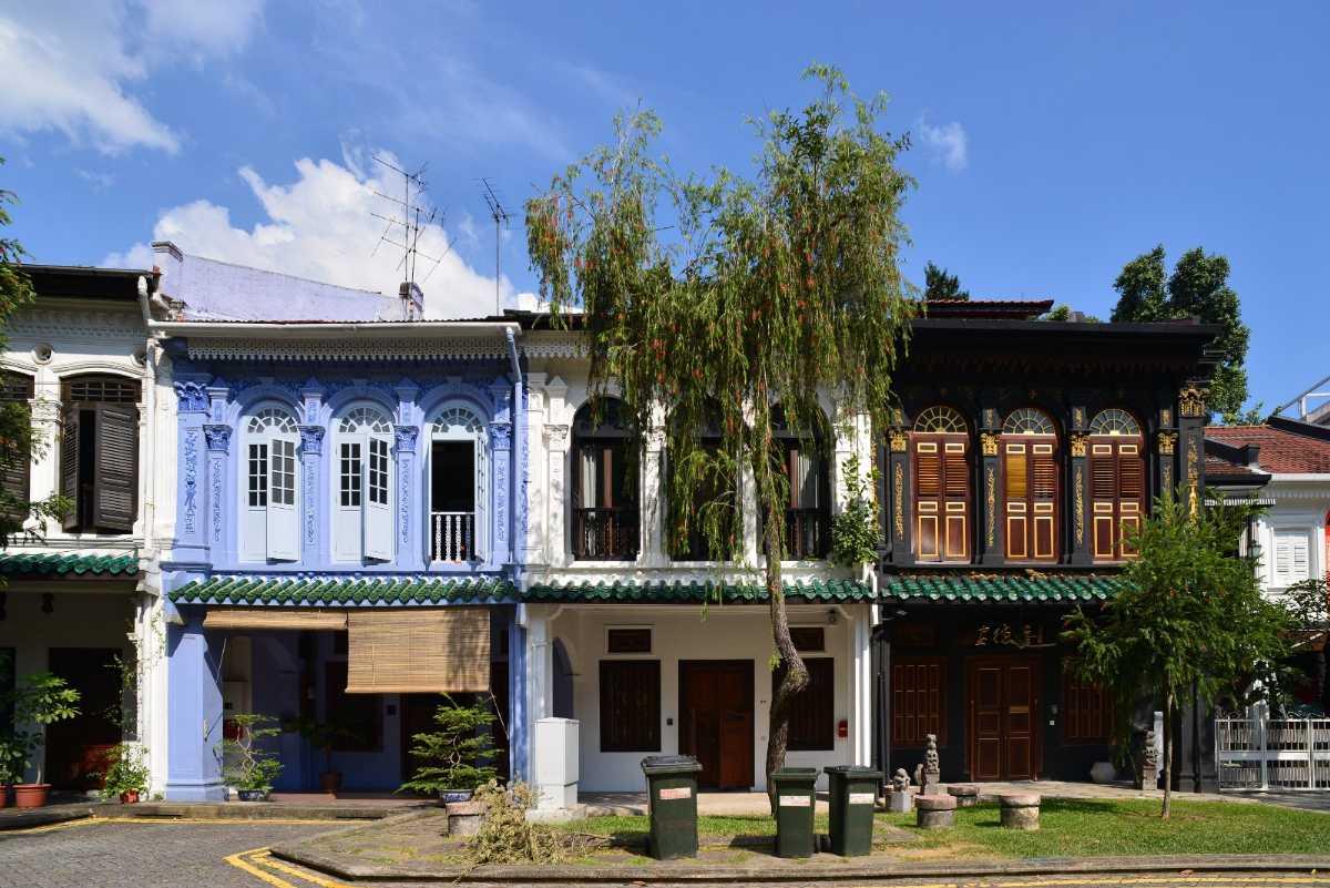 Terrace houses along Emerald Hill Road
