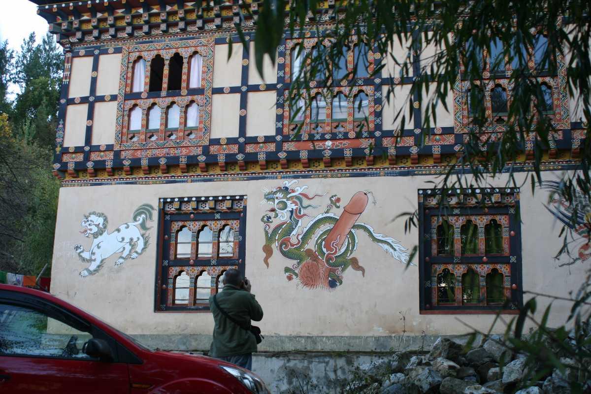 Phallus painting in bhutan