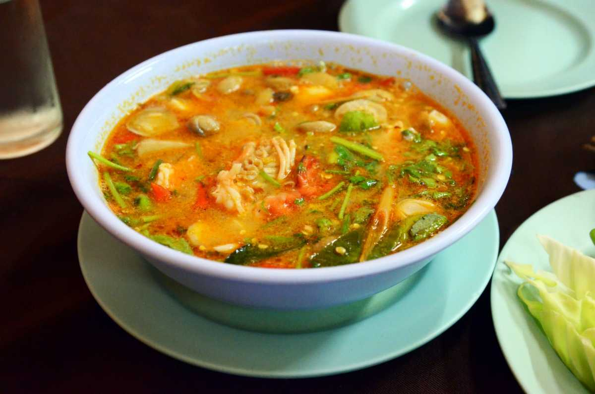 Tom Yum is a traditional soup and a delicious Halal food in Thailand
