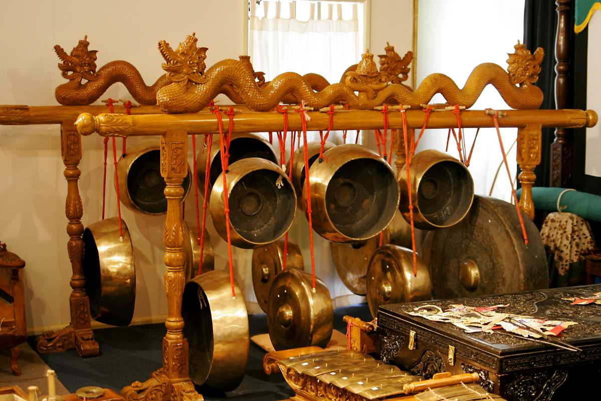 Gongs used in Balinese Cultural Music