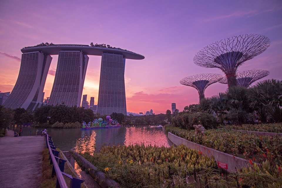 Sunset at Gardens by the Bay Singapore