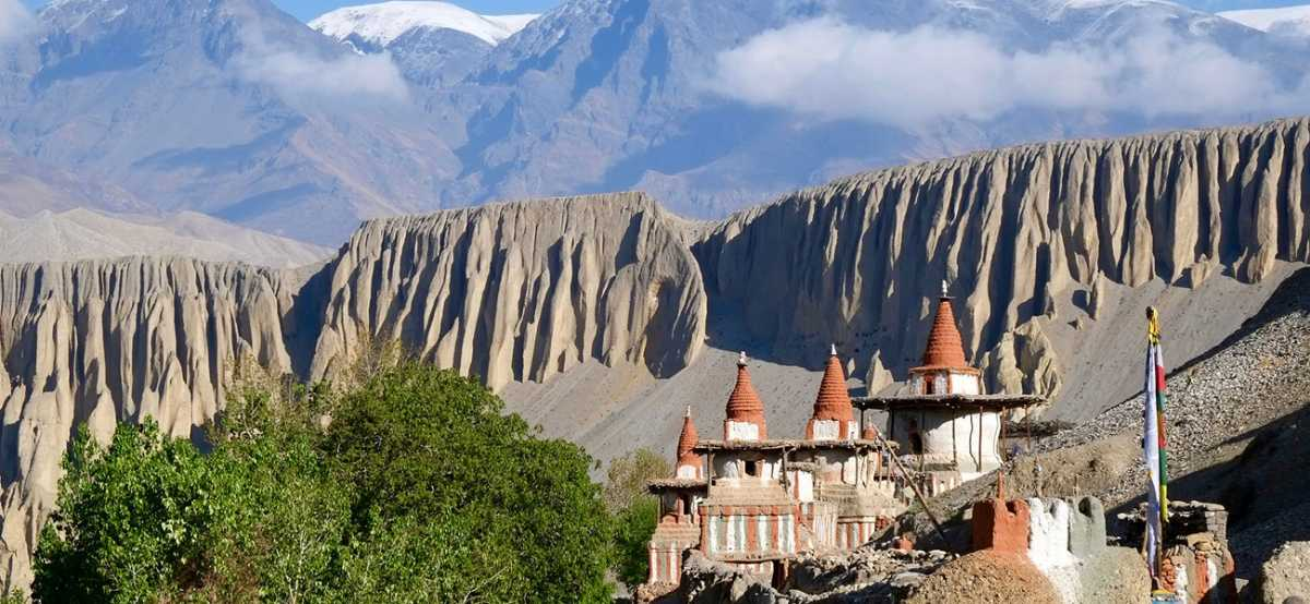 The Upper Mustang is an unforgettable landscape of Nepal.