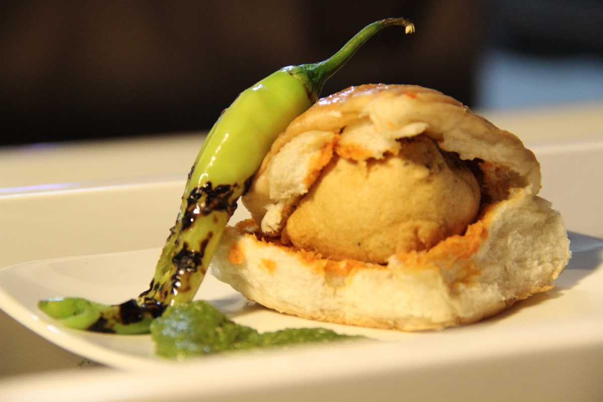 Vada Pav is a traditional Indian fast food