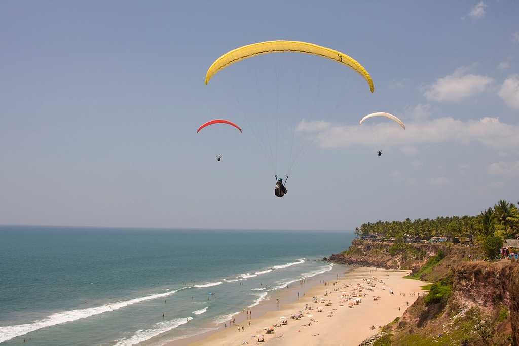 Paragliding in Varkala Beach