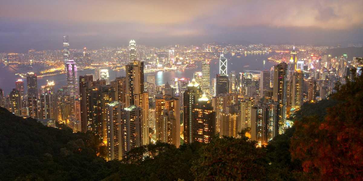 Victoria Harbour from Peak Galleria Hong Kong