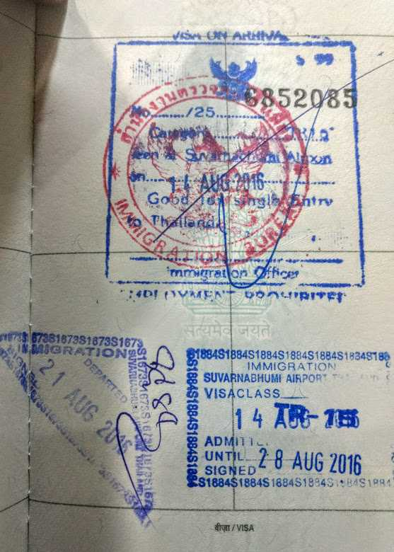Thailand Visa On Arrival For Indians 2020 Procedure