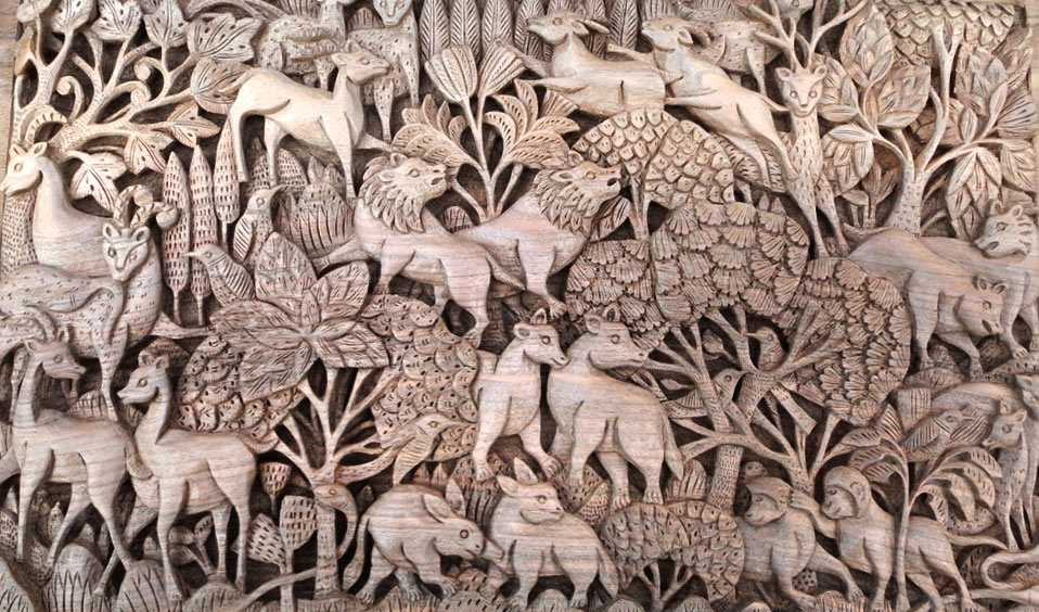 Wooden Carvings, Shopping in Jammu
