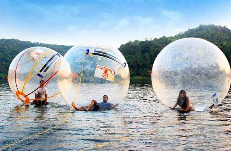 adventure sports goa, water zorbing in goa, adventure activities in goa