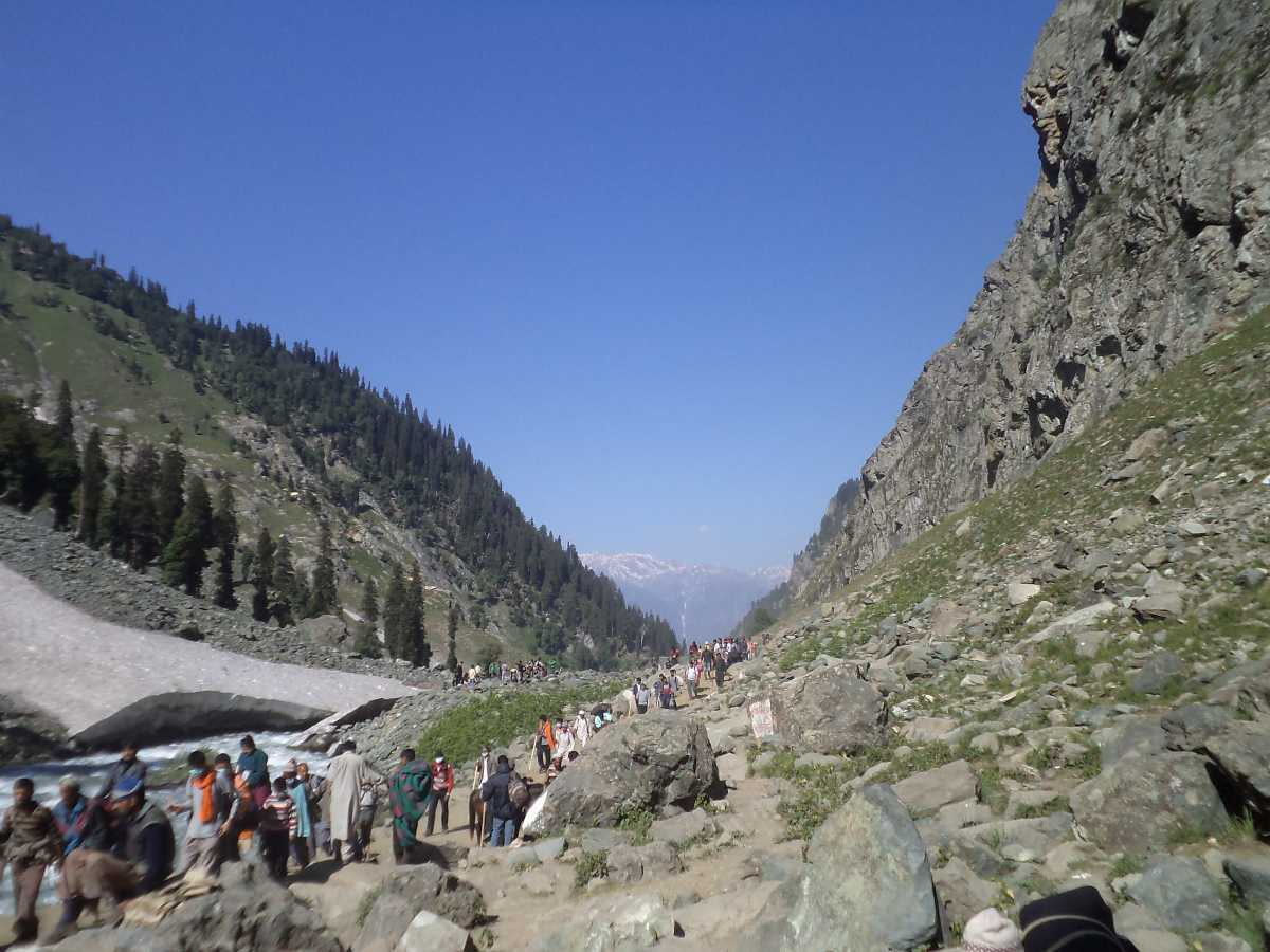 Way to Amarnath Yatra