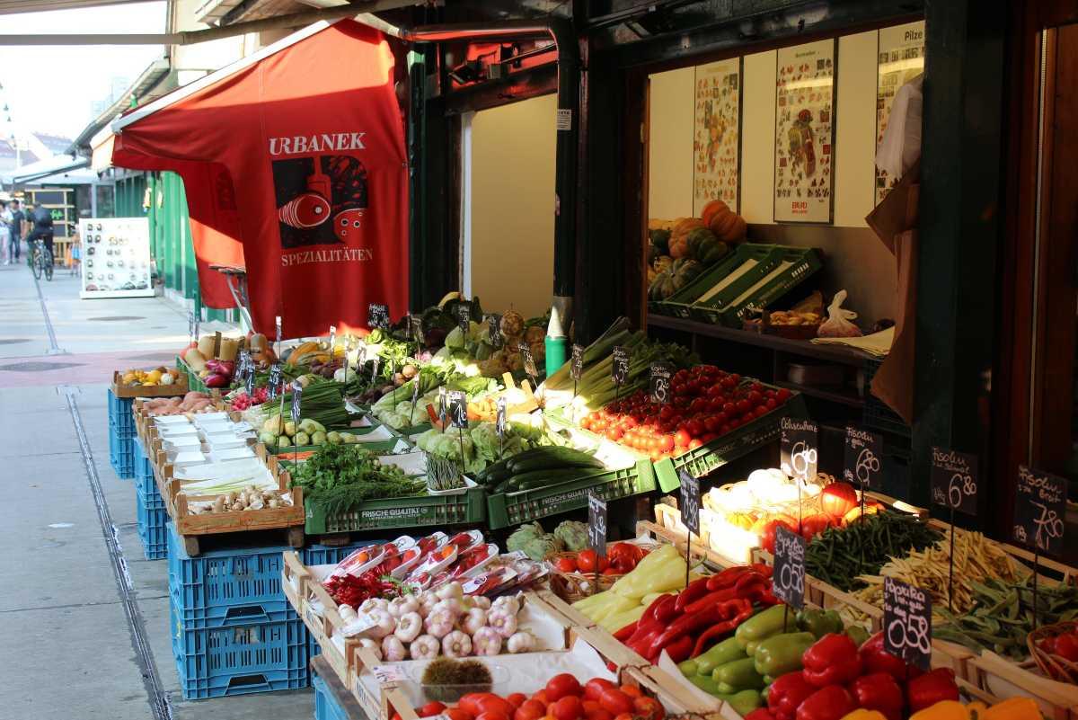 grocery store, naschmarkt, vienna