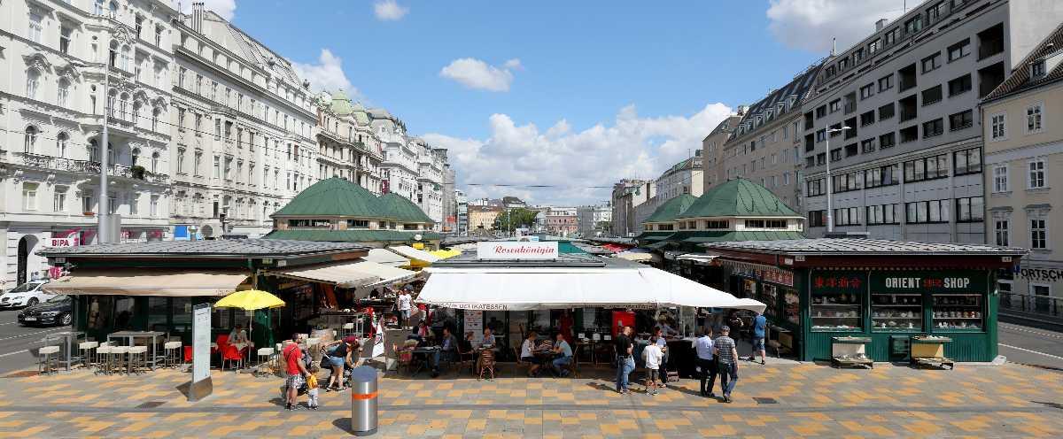 food stalls, naschmarkt, vienna
