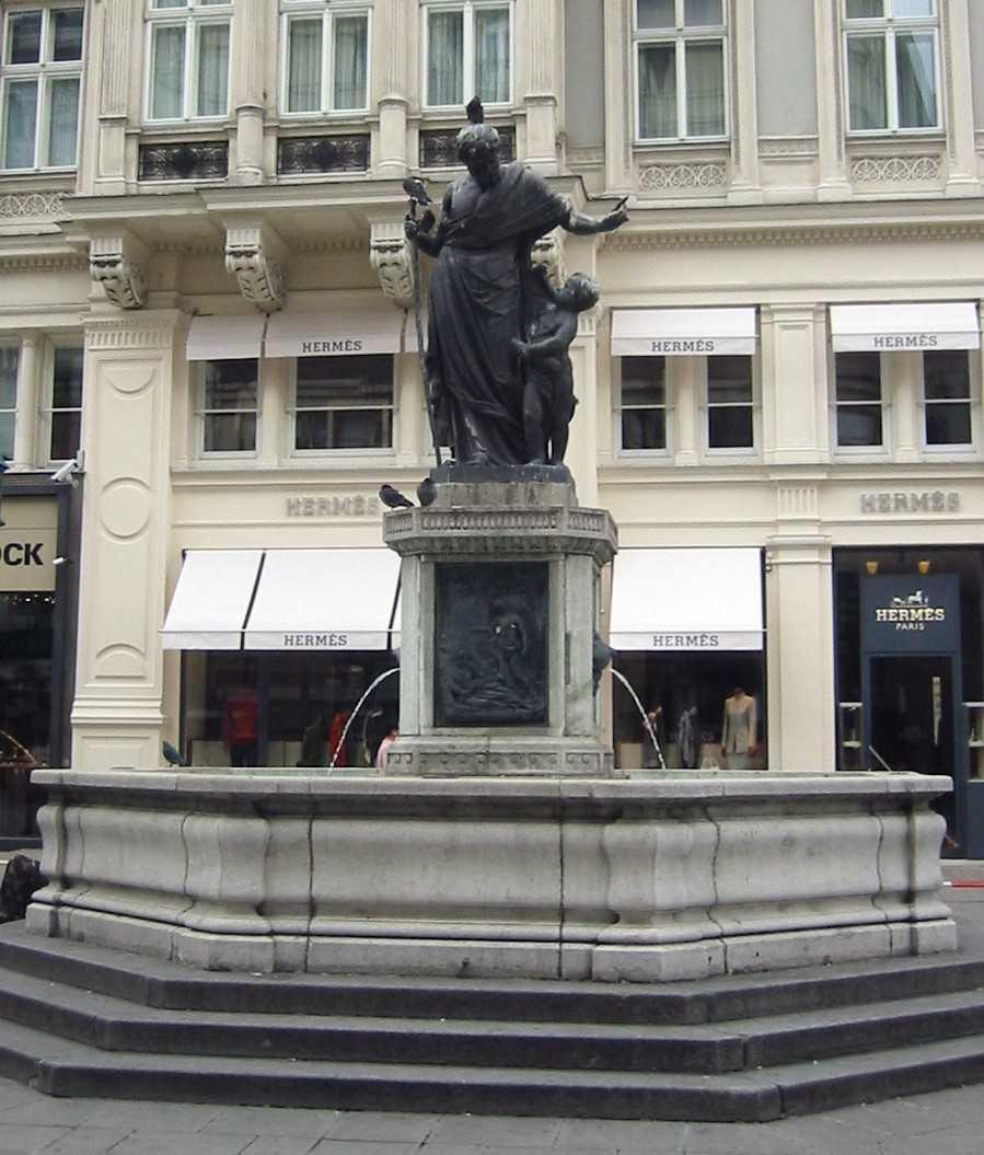 fountains, graben street