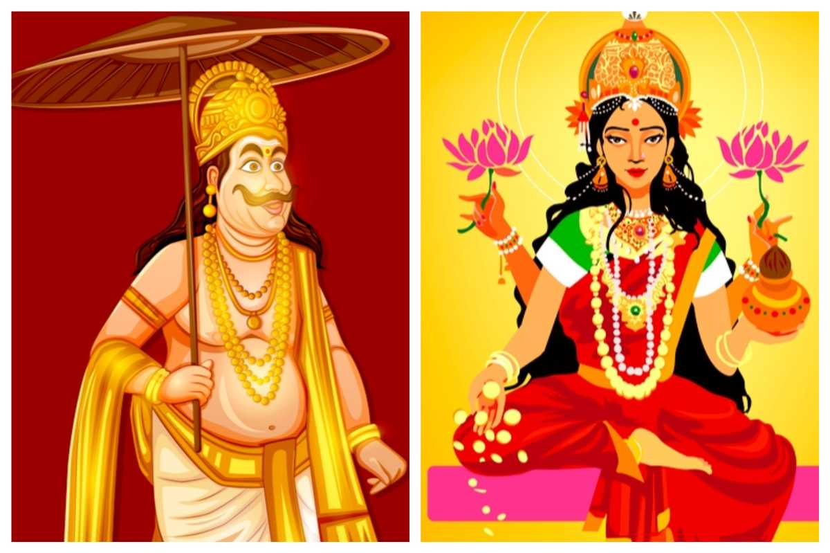 Godess Lakshmi and King Bali