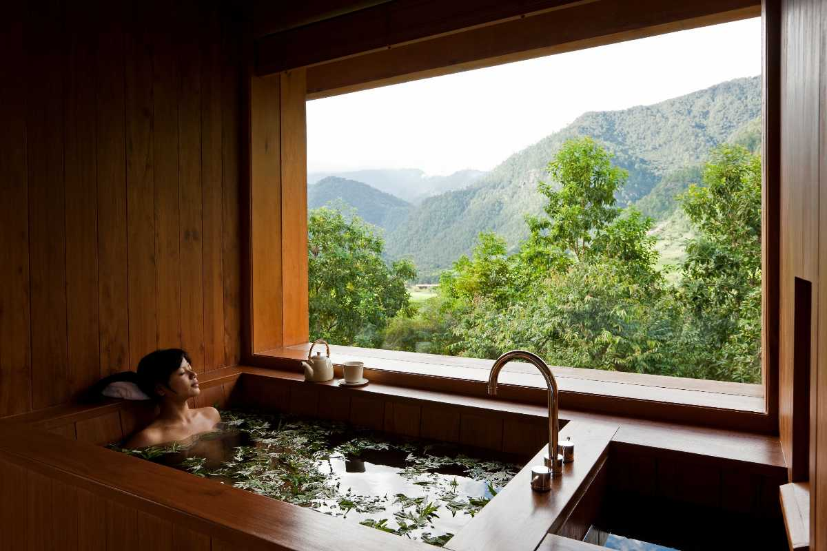 Bhutanese Hot Stone Bath in Paro