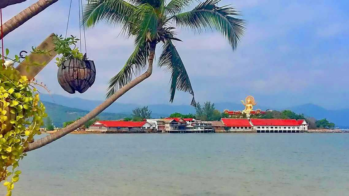 Wat Phra Yai in Koh Samui Seen From a Distance