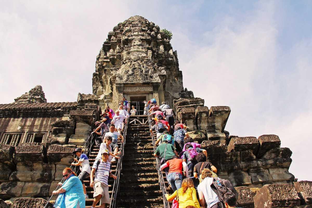 Tourists at Angkor Wat