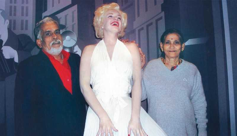 Vijayan & Mohana At Madame Tussauds
