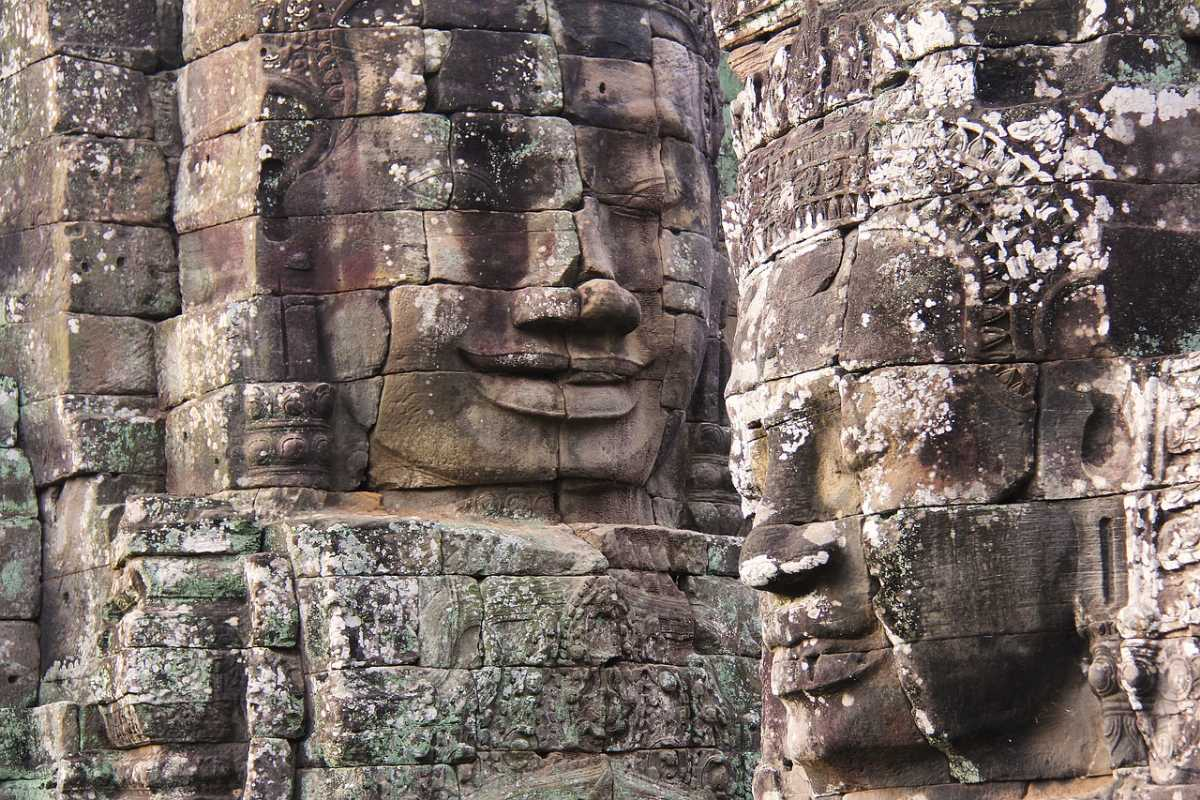 The Smiling Faces at Bayon Temple