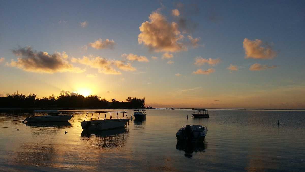 Sunrise in Mauritius