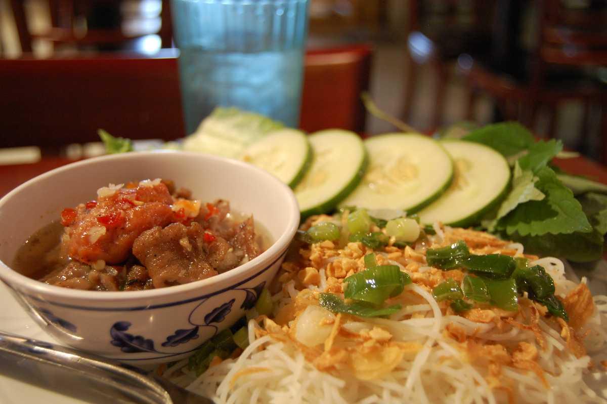 Vietnamese Food at Bao Son Paradise Park Hanoi Vietnam