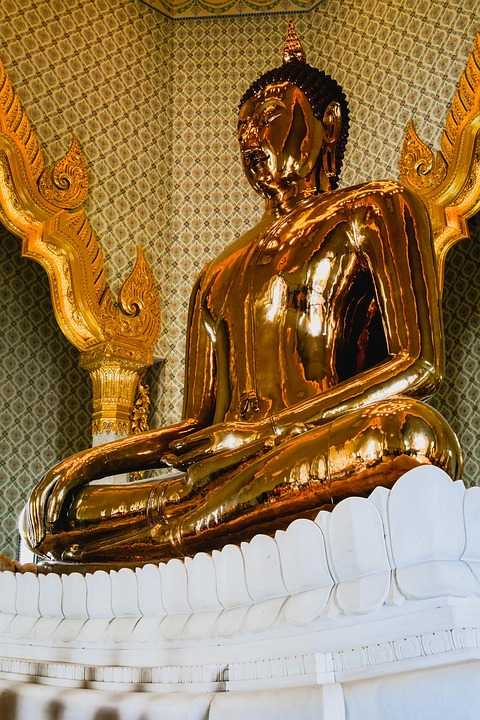 Golden Buddha Statue at Wat Traimit Bangkok