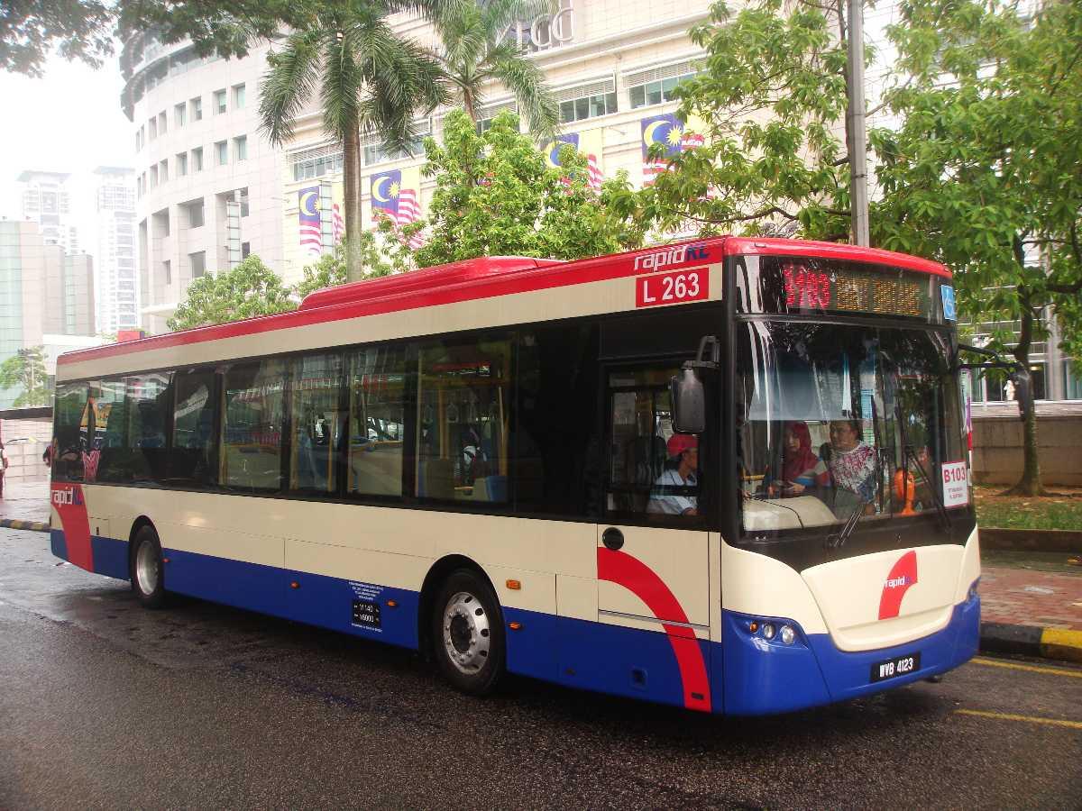 A bus in Kuala Lumpur