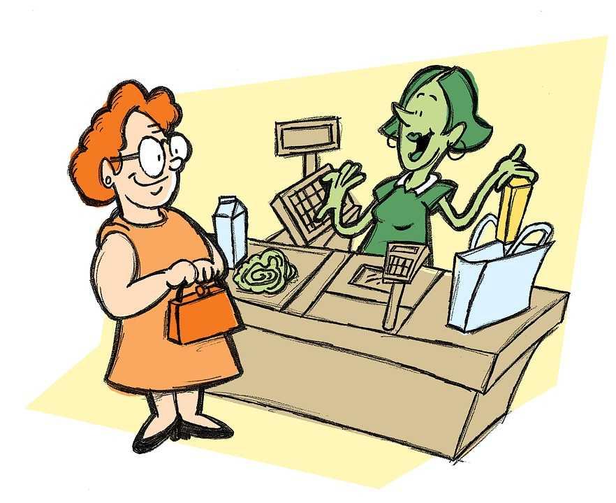 Buying essentials at the destination