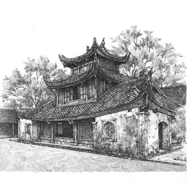 Pagoda But Thap Artwork
