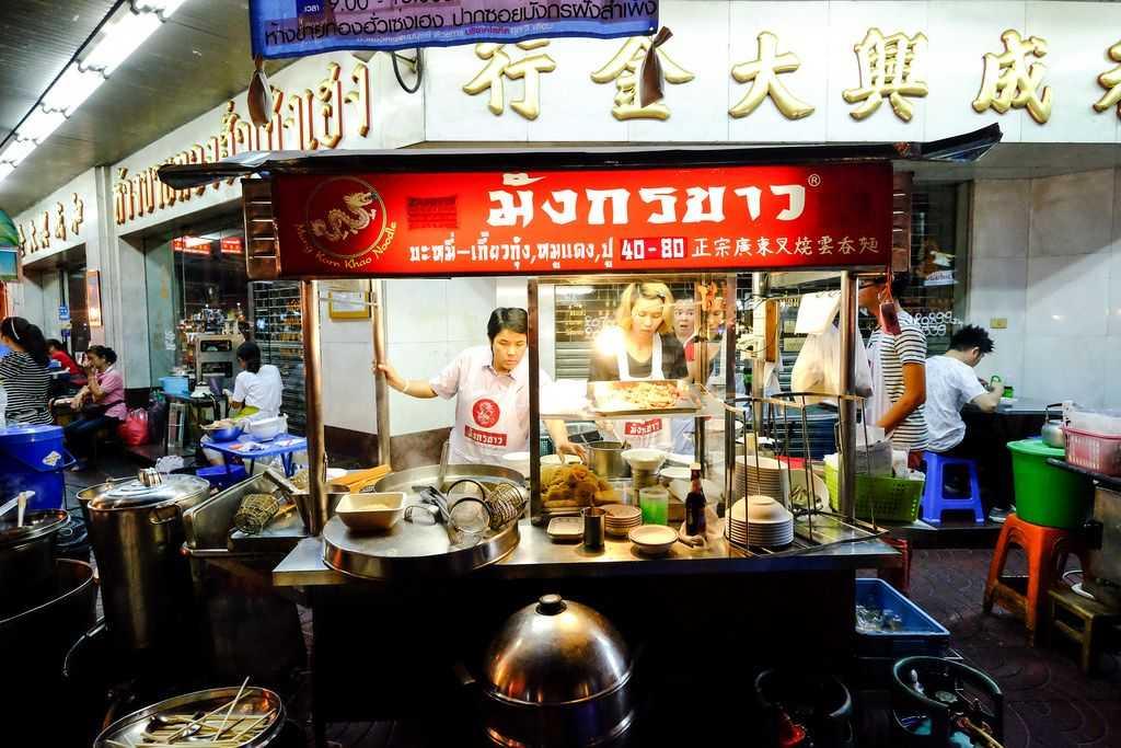 Mung Korn Khao Noodles, Street Food in Chinatown Bangkok