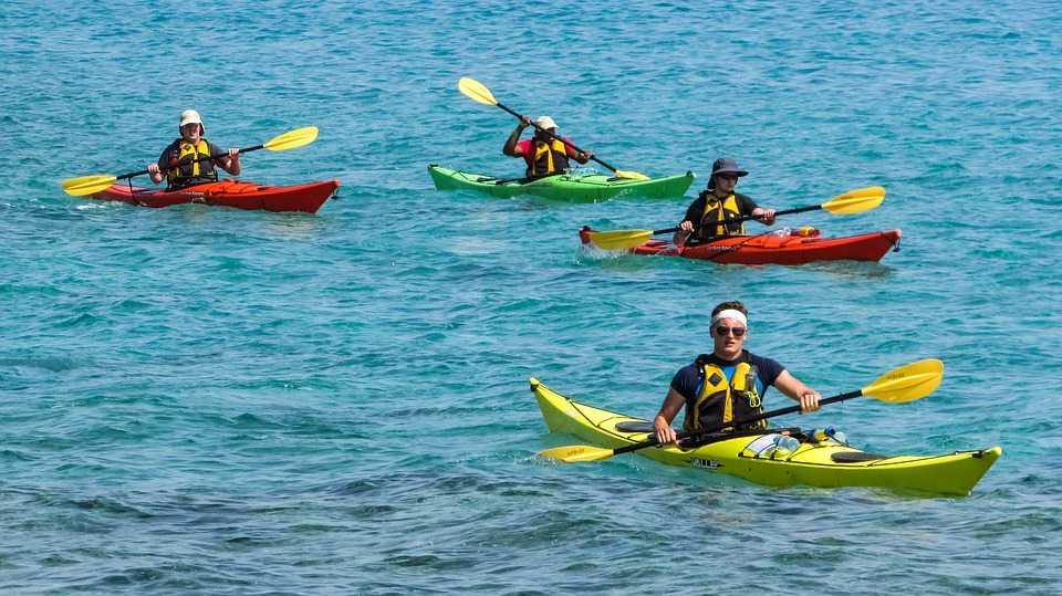 Kayaking in Maldives