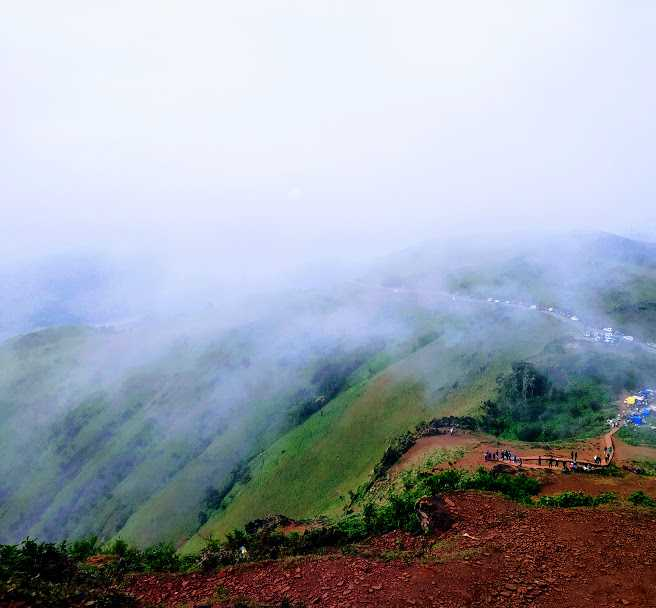 The Cloud-Covered Hills Clicked from the Mullayanagiri Peak