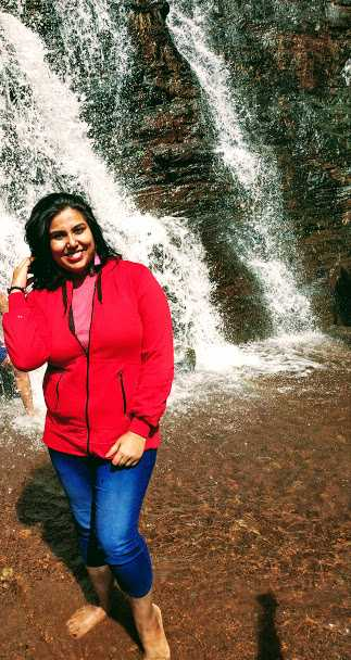 Posing at Jhari Falls