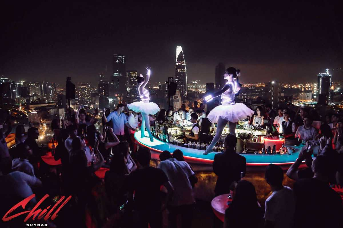 Chill Skybar Saigon, Nightlife in Ho Chi Minh District 1, Rooftop Bar Saigon
