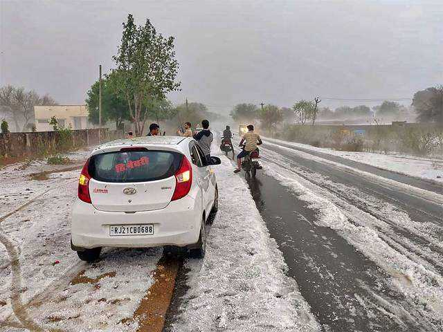 Hail Storm in Rajasthan