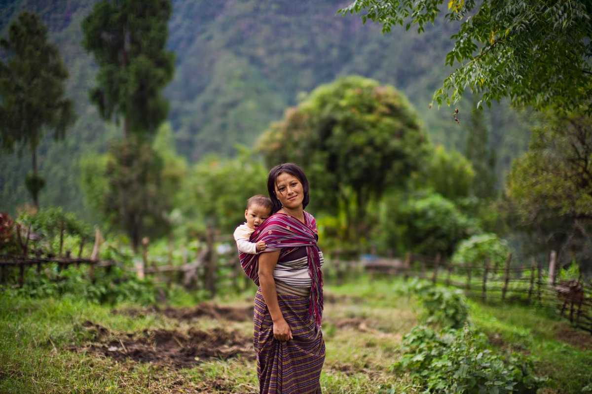 Bhutanese Baby with his mother