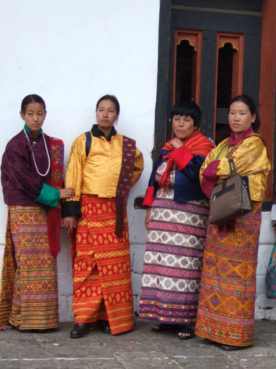 Women in Bhutanese Cultural Dress