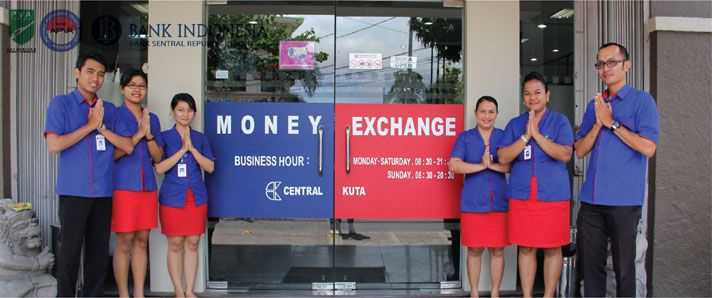 Currency Exchange in Bali, Central Kuta Money Exchange