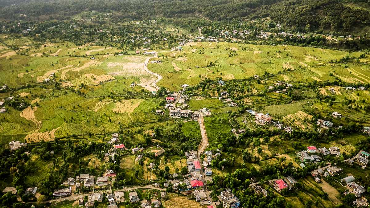 An Aerial View of Kangra