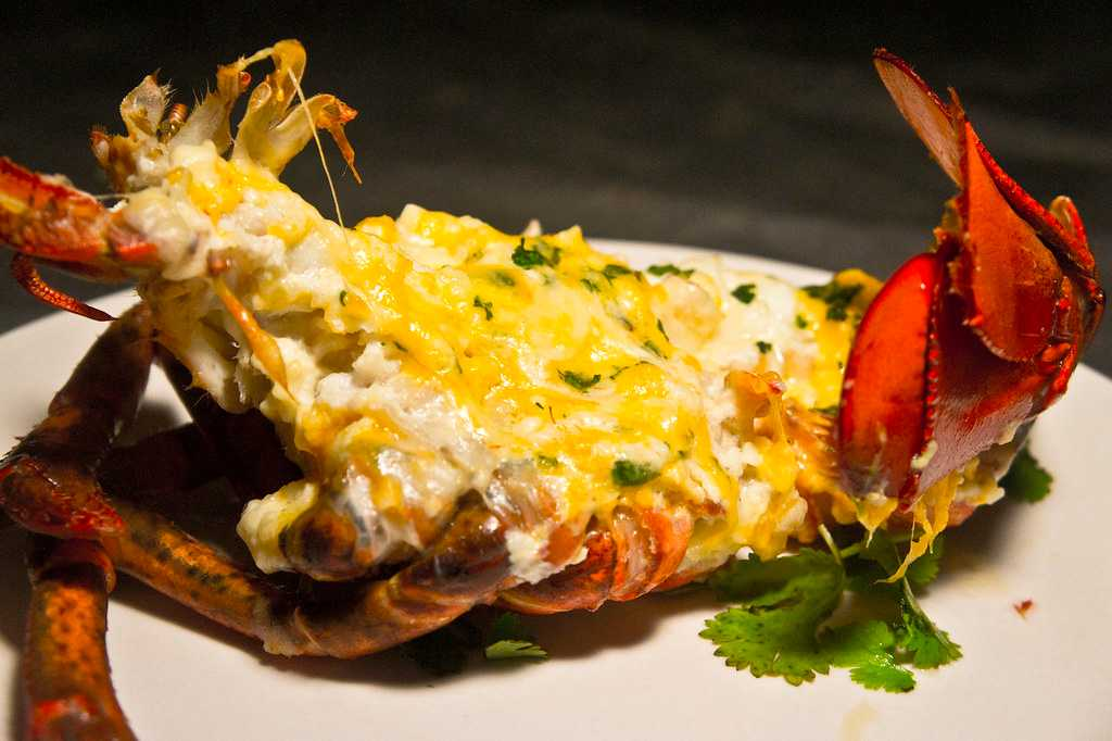 Cheese Baked Lobsters